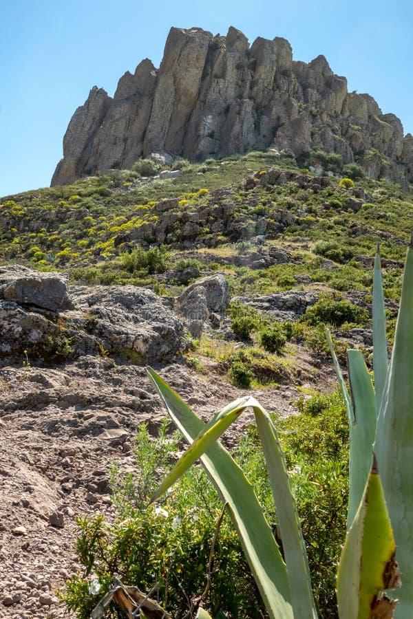 Fortaleza de Chipude, mountain on La Gomera Island. Fortaleza de Chipude, a mountain on La Gomera Island, Canary Islands, Spain royalty free stock photo