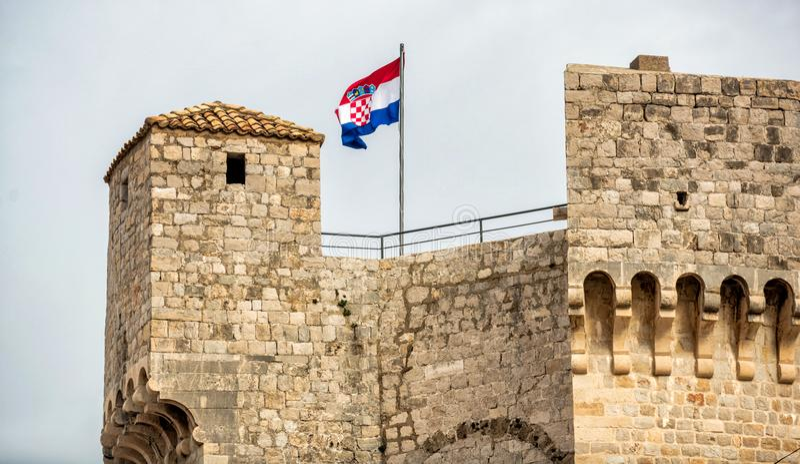 A fortaleza de Dubrovnik fotos de stock royalty free