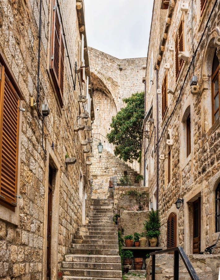 A fortaleza de Dubrovnik fotografia de stock royalty free