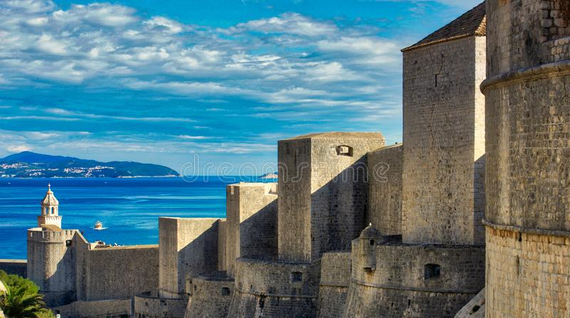 A fortaleza de Dubrovnik imagem de stock royalty free