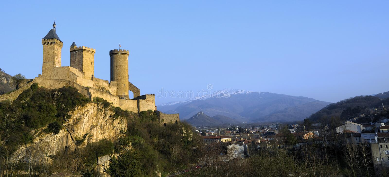 Fortaleza de Foix fotos de stock