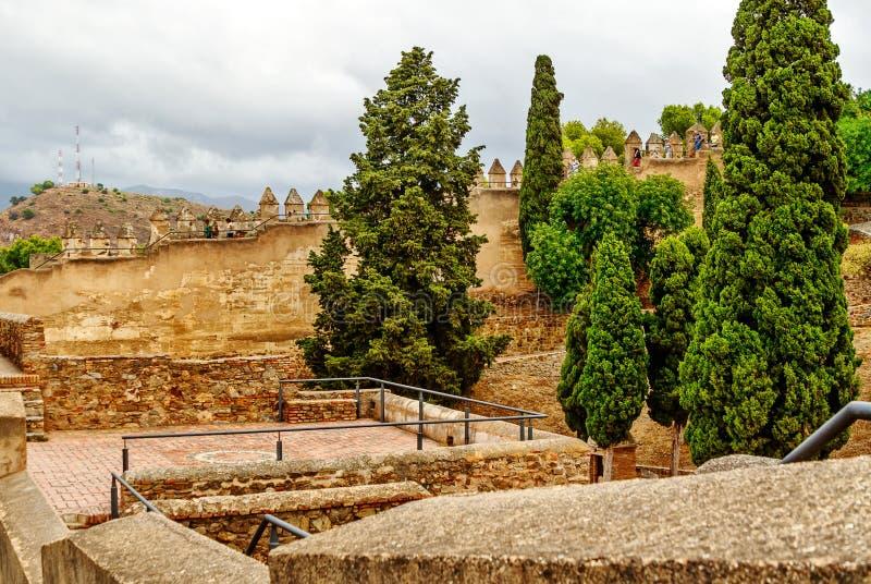 A fortaleza de Gibralfaro de Malaga, Costa del Sol, a Andaluzia, Espanha foto de stock