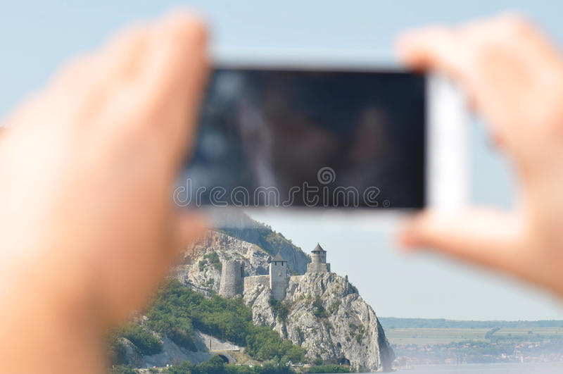 Fortaleza de Golubac imagens de stock