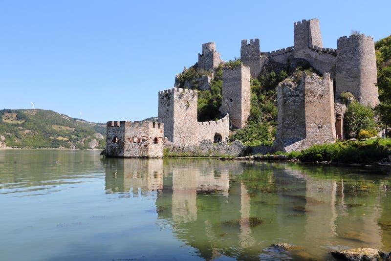 Fortaleza de Golubac, Serbia imágenes de archivo libres de regalías