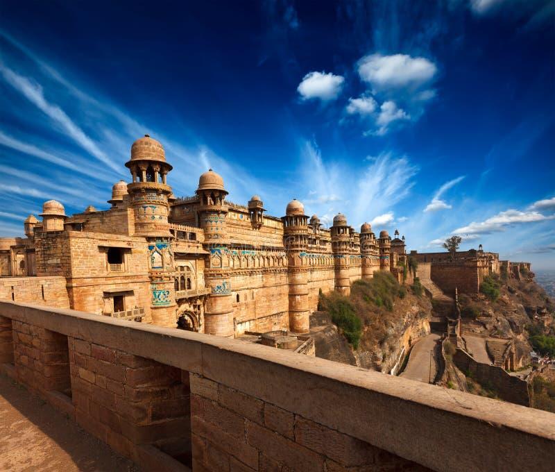 Fortaleza de Gwalior imagenes de archivo