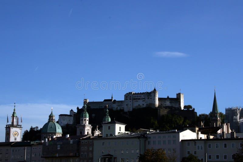 Fortaleza de Hohensalzburg em Salzburg imagens de stock royalty free