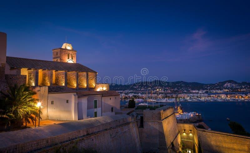 Fortaleza de Ibiza imagem de stock