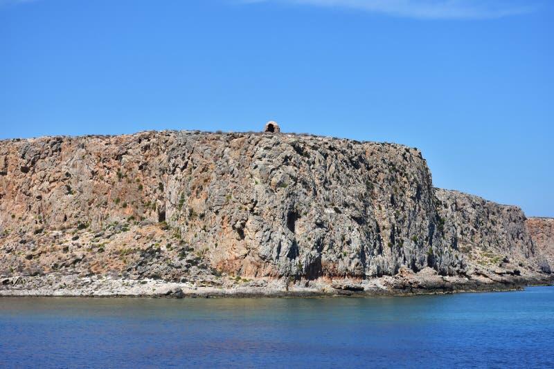 Fortaleza de Imeri Gramvousa foto de stock royalty free