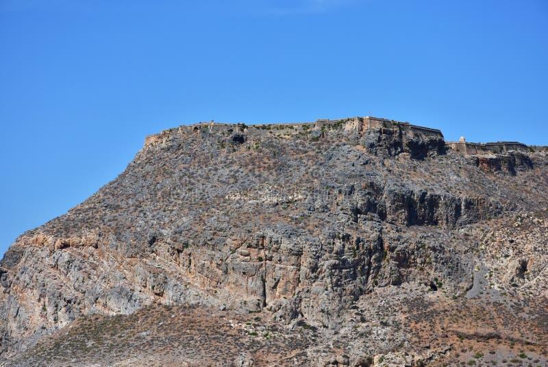 Fortaleza de Imeri Gramvousa, Creta, Grécia imagem de stock