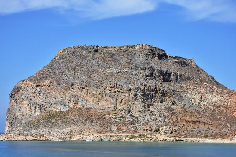 Fortaleza de Imeri Gramvousa, Creta, Grécia fotos de stock