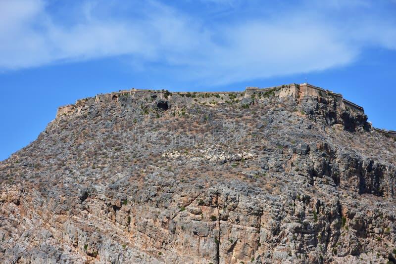 Fortaleza de Imeri Gramvousa, Creta, Grécia foto de stock