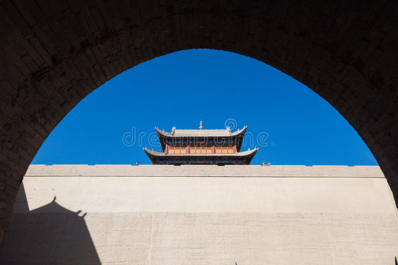 Fortaleza de Jiayuguan imagen de archivo libre de regalías