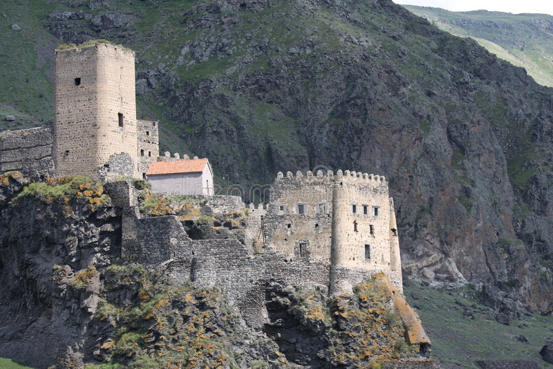 Fortaleza de Khertvisi em Geórgia fotos de stock royalty free