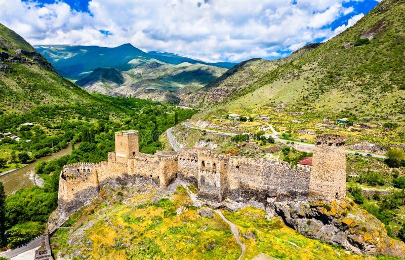 Fortaleza de Khertvisi en Meskheti, Georgia imagenes de archivo