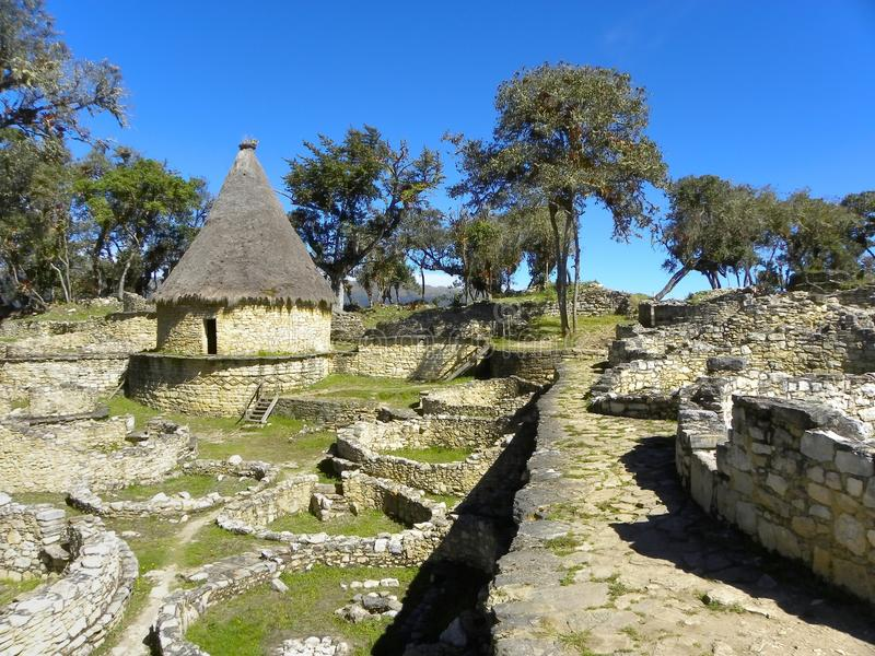 Fortaleza de Kuelap, Chachapoyas, Amazonas, Peru. fotos de stock