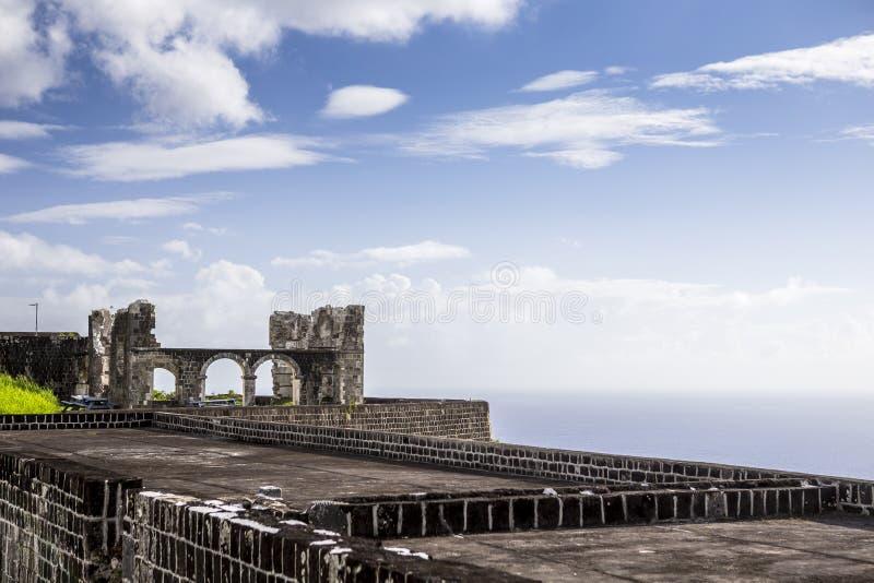 Fortaleza de la colina del azufre en St San Cristobal fotografía de archivo
