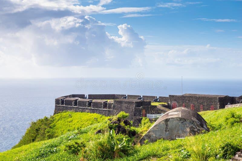 Fortaleza de la colina del azufre en St San Cristobal imagenes de archivo