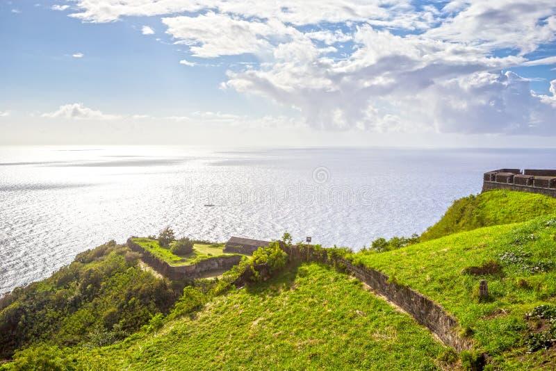 Fortaleza de la colina del azufre en St San Cristobal fotos de archivo libres de regalías