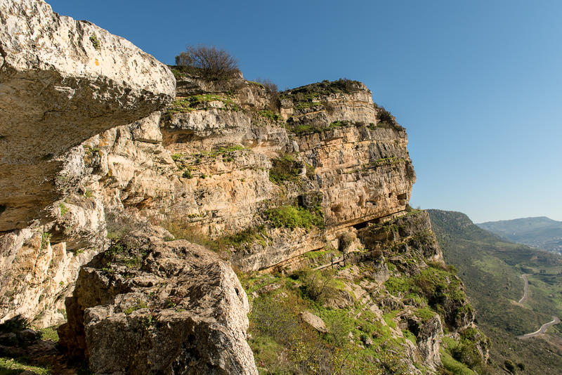 Fortaleza de la montaña de Niha, montañas de Shouf, Líbano, resumisión del fichero no53156269 foto de archivo