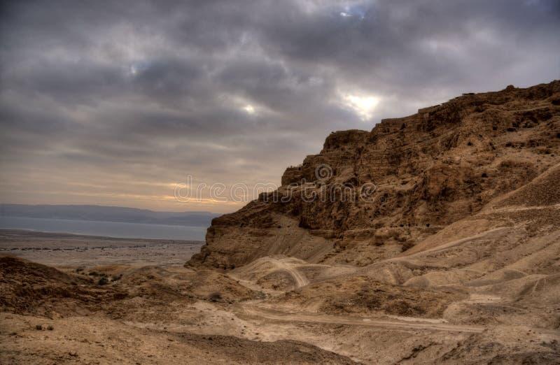 Fortaleza de Masada imagen de archivo