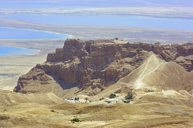 Fortaleza de Masada imagenes de archivo