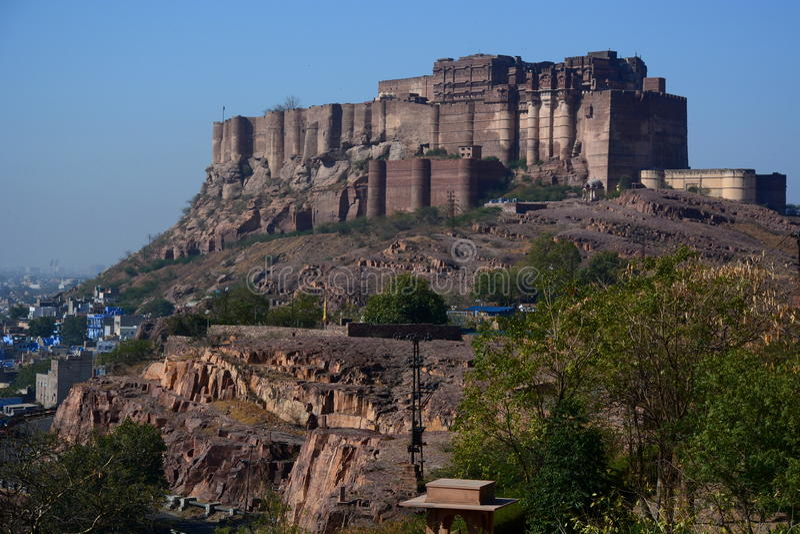 Fortaleza de Mehrangarh Jodhpur Rajasthán La India fotos de archivo