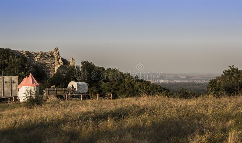 Fortaleza de Mezek foto de archivo