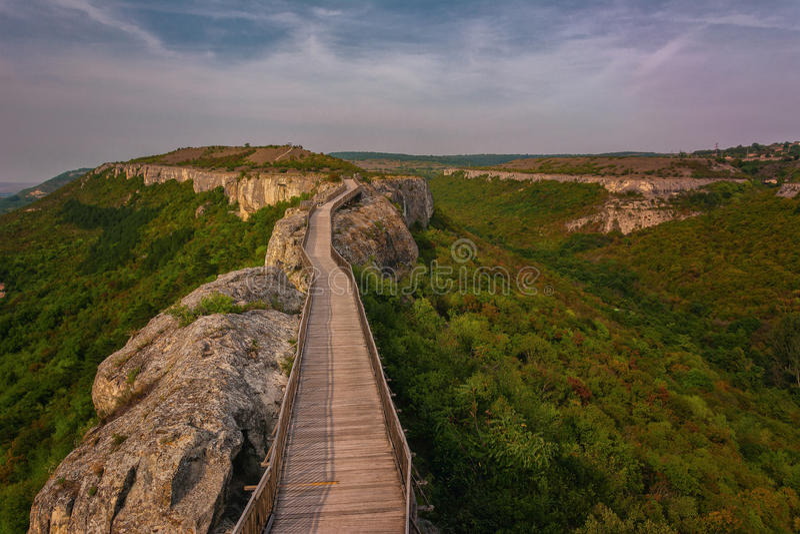 Fortaleza de Ovech, Provadia, Bulgaria imagen de archivo libre de regalías