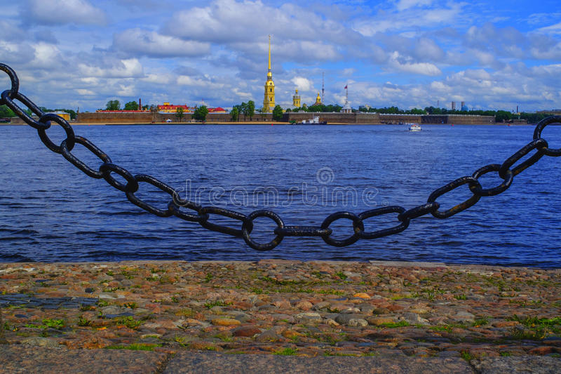 Fortaleza de Peter e de Paul em St Petersburg fotografia de stock