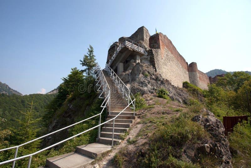 Fortaleza de Poienari fotografía de archivo libre de regalías