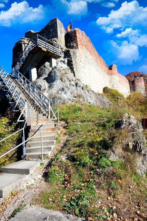Fortaleza de Poienari imagen de archivo