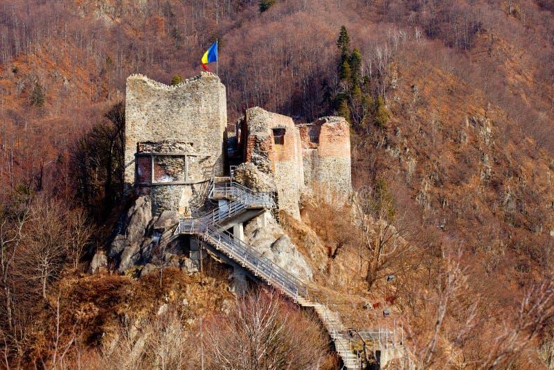 Fortaleza de Poienari de Dracula imagen de archivo libre de regalías