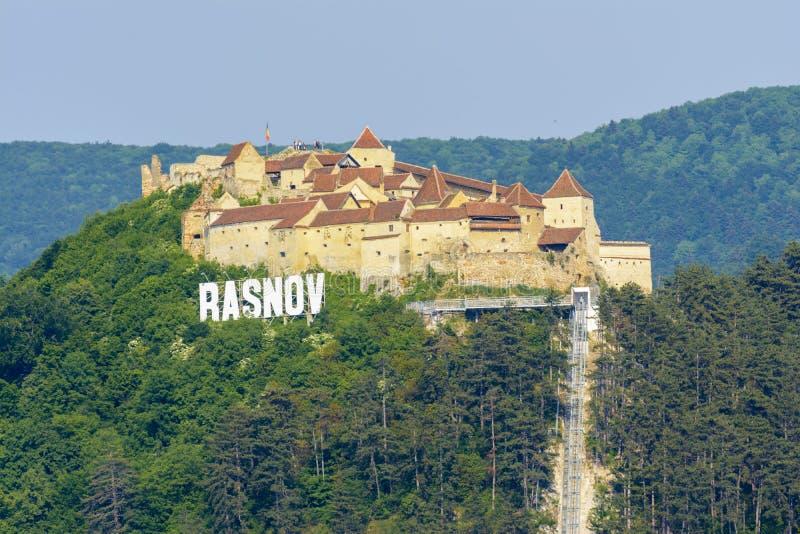 Fortaleza de Rasnov fotos de stock royalty free