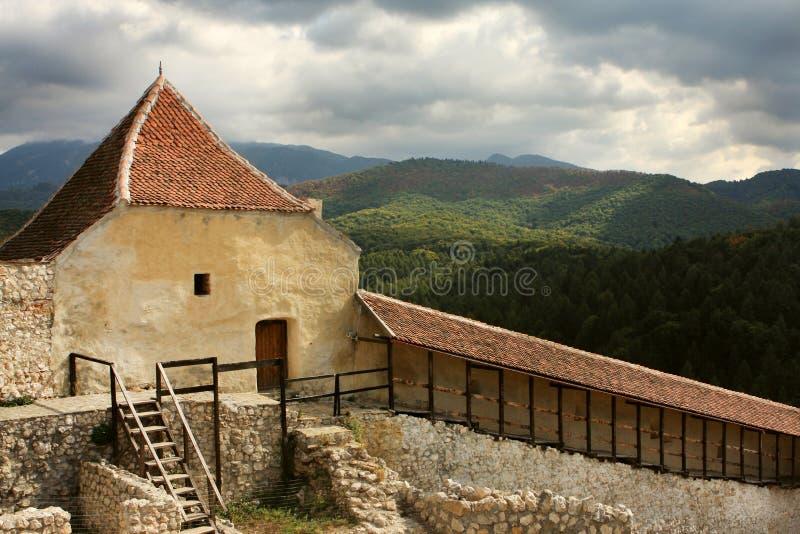 Fortaleza de Rasnov, Brasov Romania foto de stock royalty free