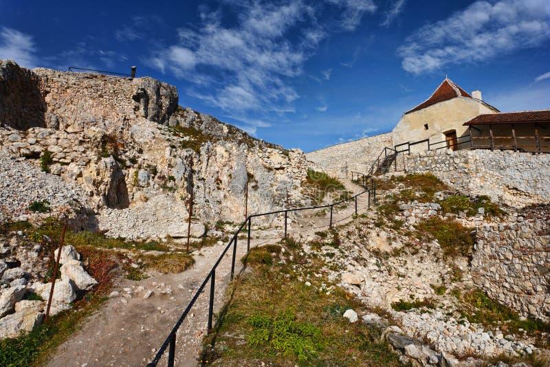 Fortaleza de Rasnov em Romania fotografia de stock