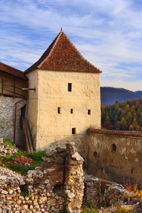 Fortaleza de Rasnov em Romania foto de stock royalty free