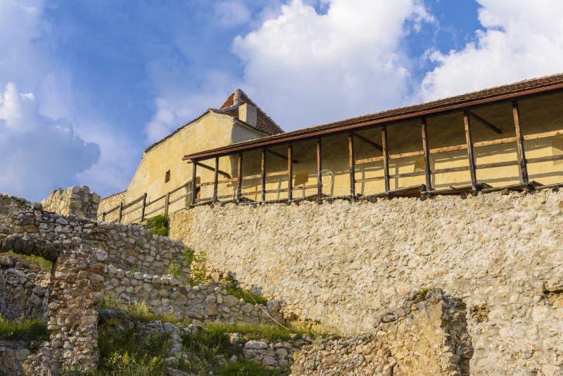Fortaleza de Rasnov para dentro fotos de stock royalty free