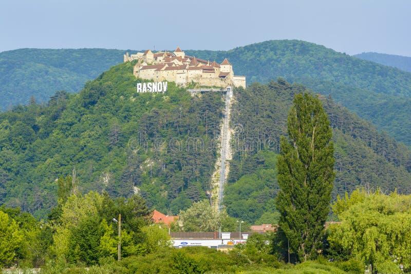 Fortaleza de Rasnov, a Transilvânia Romênia imagem de stock