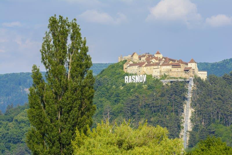 Fortaleza de Rasnov, a Transilvânia Romênia imagens de stock