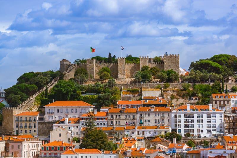 Fortaleza de San Jorge - Lisboa Portugal foto de archivo libre de regalías