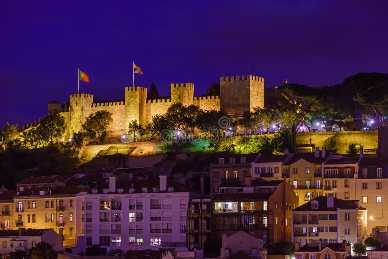 Fortaleza de San Jorge - Lisboa Portugal fotografía de archivo