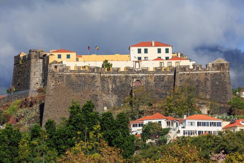 Fortaleza de Sao Joao Baptista hace Pico imagen de archivo libre de regalías