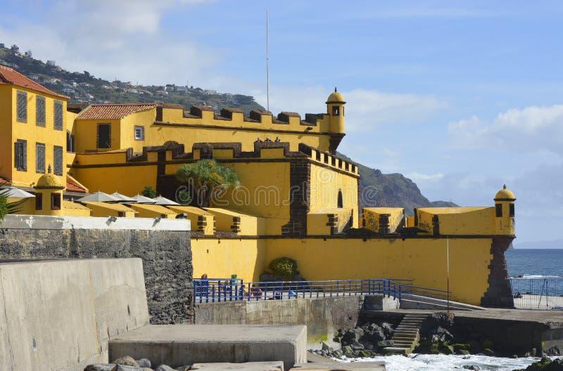 Fortaleza DE Sao Tiago in Funchal, Madera royalty-vrije stock foto's