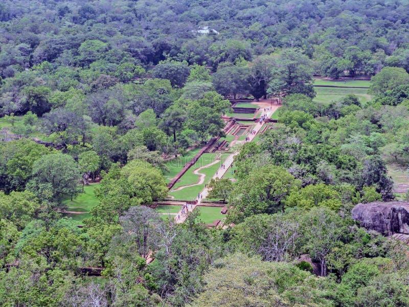Fortaleza de Sigiri em Sri Lanka imagem de stock royalty free