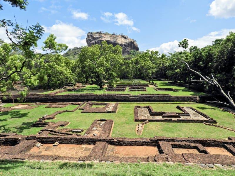 Fortaleza de Sigiri em Sri Lanka fotografia de stock