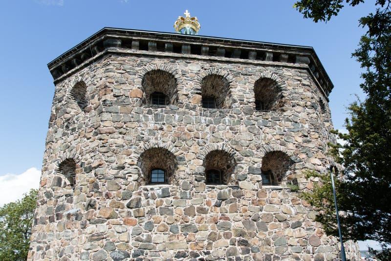 Fortaleza de Skansen Kronan em Goteborg (Gothenburg), Suécia, Escandinávia fotos de stock
