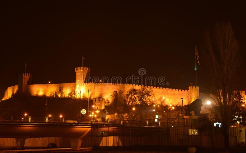 A fortaleza de Skopje, couve imagem de stock