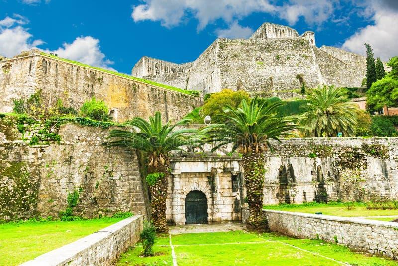 Fortaleza de St Mark no centro da cidade-Kerkyra de Corfu, Grécia imagem de stock