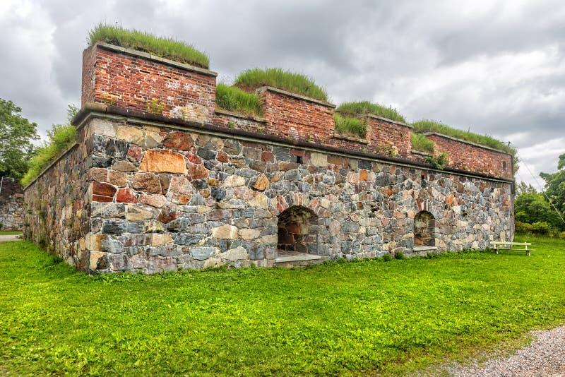 Fortaleza de Suomenlinna ou de Sveaborg helsínquia finland fotografia de stock