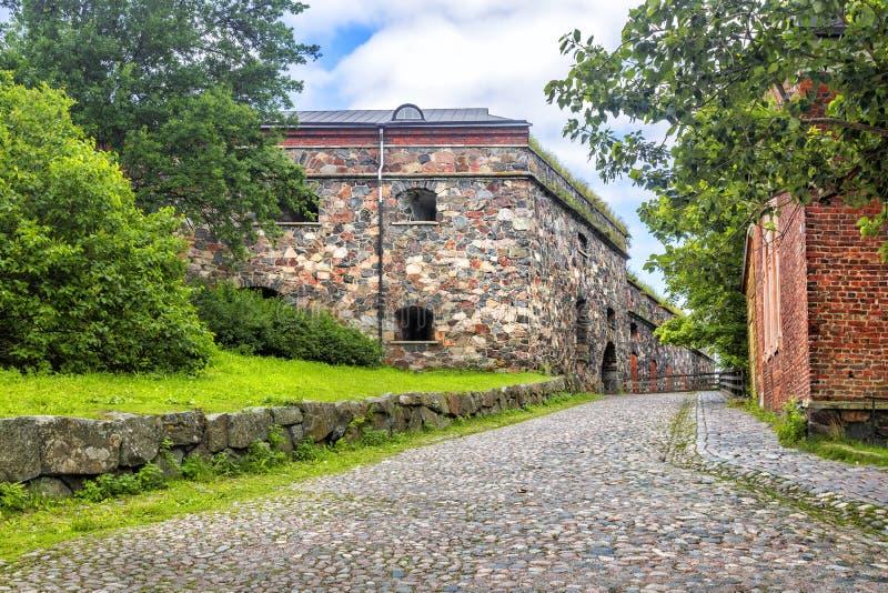 Fortaleza de Suomenlinna ou de Sveaborg helsínquia finland imagens de stock